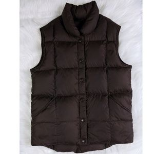 Lands' End Dark Brown Goose Down Vest 10-12